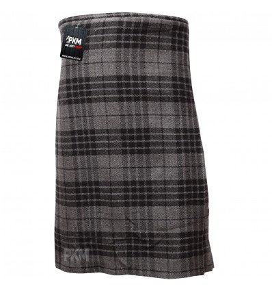 Men Scottish Gray Black Grey Watch 8 Yard Tartan Kilt