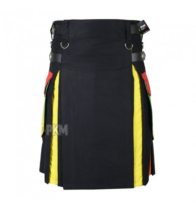 Rainbow Cotton Hybrid Utility Kilt